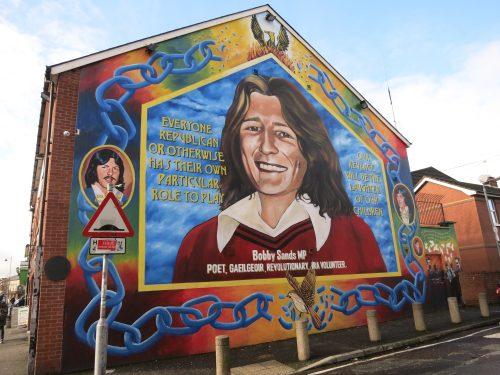 Mural en mA�moire de Bobby Sands - Falls Road - 01.03.2016 - CA�cile Walder