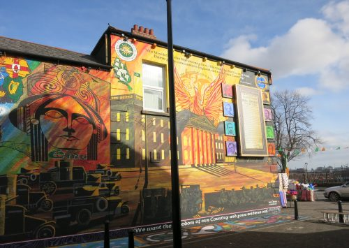 Mural en mA�moire de l'Easter rising - Falls Road - 03.03.2016 - CA�cile Walder