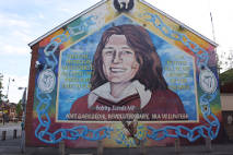 Crowely T., 2006, a�?Republican mural, Sevastopol Street/Falls Rd., West Belfast. Mural on side of Sinn FeinOffices depicts Bobby Sands a�� first Hunger Striker to die 1981. Mural originally painted 1998, re-painted 2000 on re-built offices.a�? Clarmont Colleges Digital Library http://ccdl.libraries.claremont.edu/cdm/compoundobject/collection/mni/id/1260/rec/38